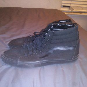black vans shoes size 15